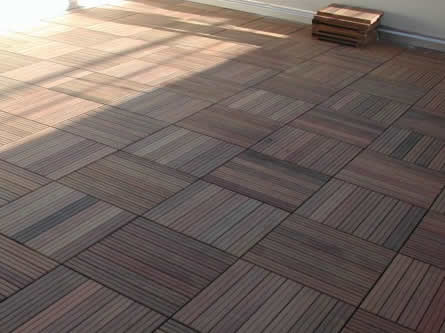 Timber decking paving slabs for Garden decking and slabs