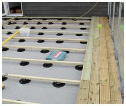 Oakwood Group London Timber Decking Supports Wallbarn