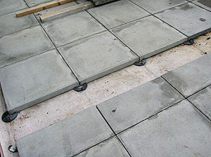 Another Advantage Of Wallbarn Rubber Paving Support Pads Is The Ability For  The Contractor To Take Up, Reposition, Or Change Completely The Paving Slabs  On ...