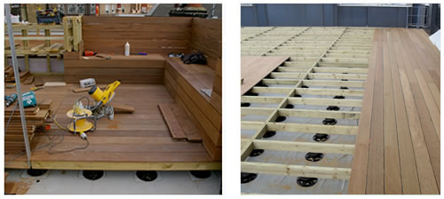 Td support pedestals for timber decking wallbarn for Timber decking spacers