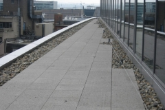 Adjustable paving support pads finshed balcony Plantation Place Fenchurch Street