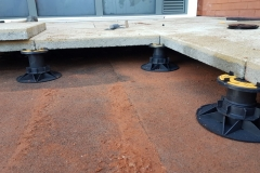 Universal Pedestal for paving and decking close up with slab