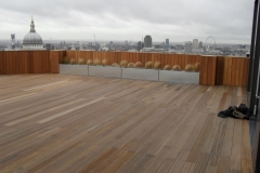 Universal Pedestal on timber decking project St Pauls London