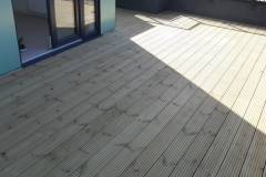 Universal timber decking support pad timber deck