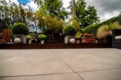 Architectural design terrace natural stone