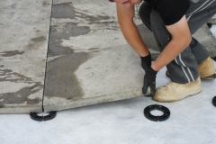 How to lay slabs onto paving spacers
