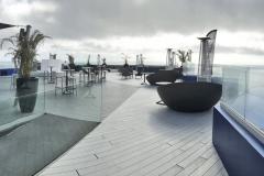 Grey decking roof terrace Tenerife