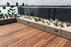 How to build IPE decking on inverted waterproofing 14 completed hardwood deck