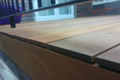 IPE hardwood decking edge profile