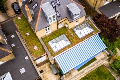 Green roof aerial shot M-Tray Sydenham
