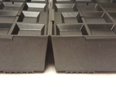 close up of 2 trays connecting