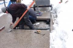 Installing Megapad Paving Pedestals with granite slabs