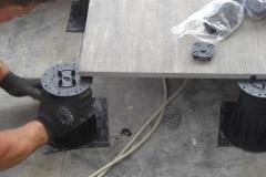 Installing Megapad adjustable paving pedestal