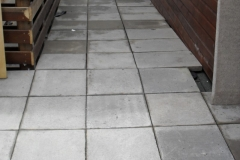 Minipad adjustable paving support pad with concrete slabs completed project