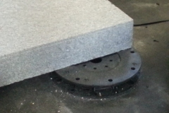 Minipad for paving with granite slab and lugs removed