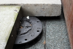 Minipad paving support pad with concrete paving