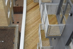 TD Megapad adjustable decking support pad with decking balcony