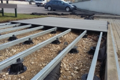 TD Megapad support pads with metal joist