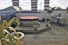 Build a timber decking roof terrace