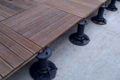 How to install decking on support pads