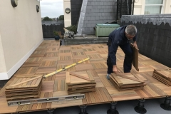 How to refurbish a terrace with timber tiles step 4