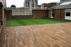 Ipe timber and artifical grass