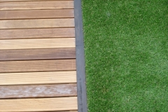 Ipe timber with artifical grass school project