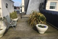 Refurbish roof terrace with hardwood timber tiles step 1