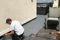 Refurbish roof terrace with hardwood timber tiles step 2