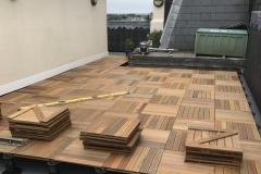 Refurbish roof terrace with hardwood timber tiles step 4