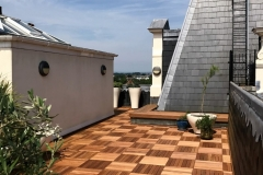 Refurbish roof terrace with hardwood timber tiles step 5