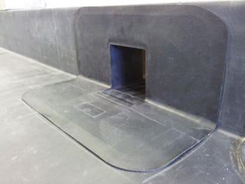 Corner Parapet Through Wall Outlets In Epdm For