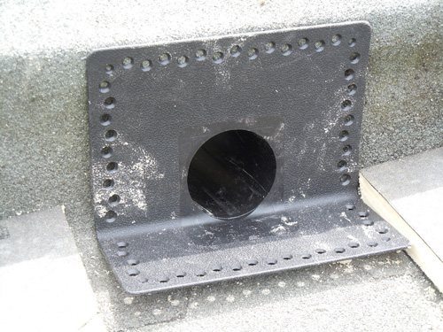 Tpe Corner Parapet Through Wall Outlets With