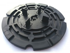 7mm Rubber Discs For Decking and Paving