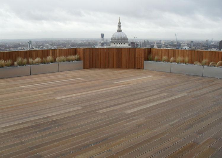 Aldersgate decking installation