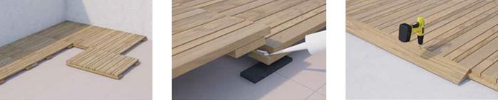 Modular Timber Decking Tiles