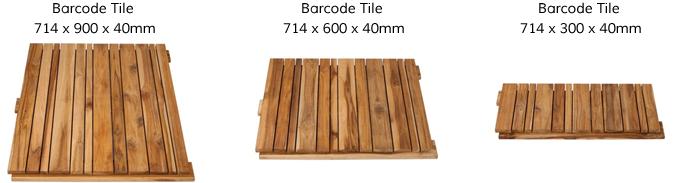 Modular Hardwood Timber Decking Tiles