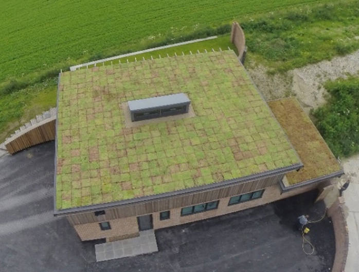 Cattle Hill Quarry, Vale of Yorkshire - M-Tray Green Roof Installation