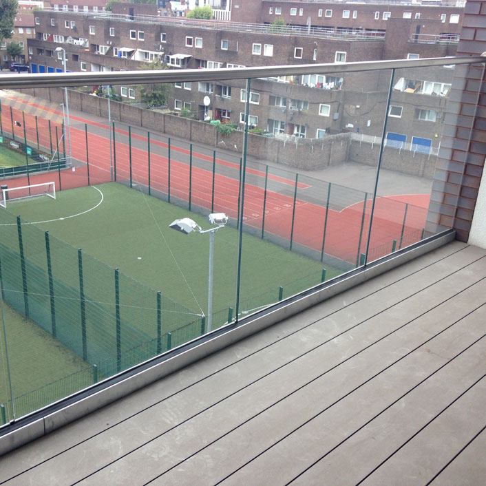 terrace with decking at Lillian Bayliss school