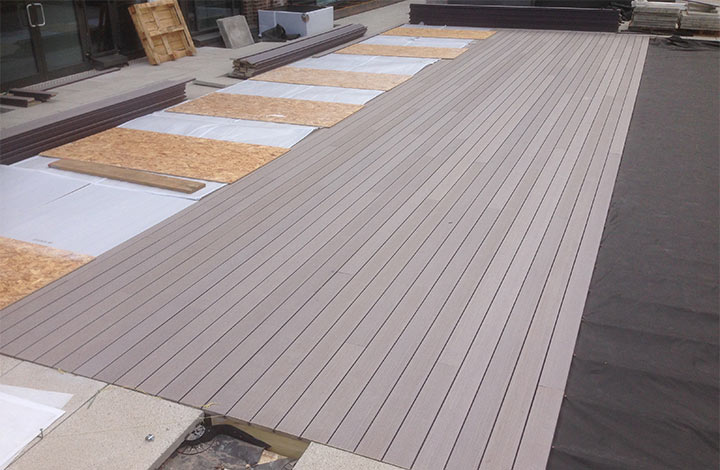 View of Decking in St Katherine's Dock, London