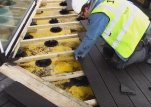 Riverlight Development, London Adjustable Pedestals for timber decking