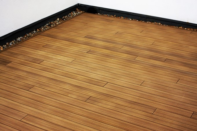 An image of a decking installation