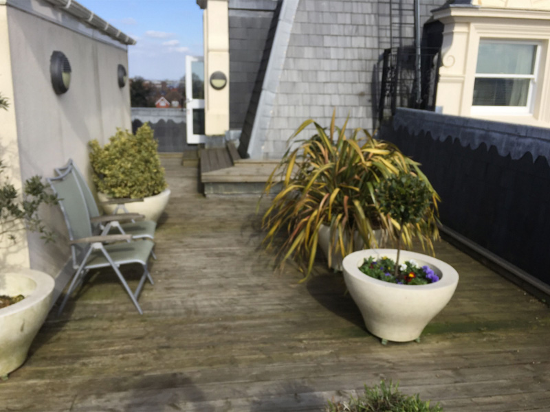 An image of a rooftop deck