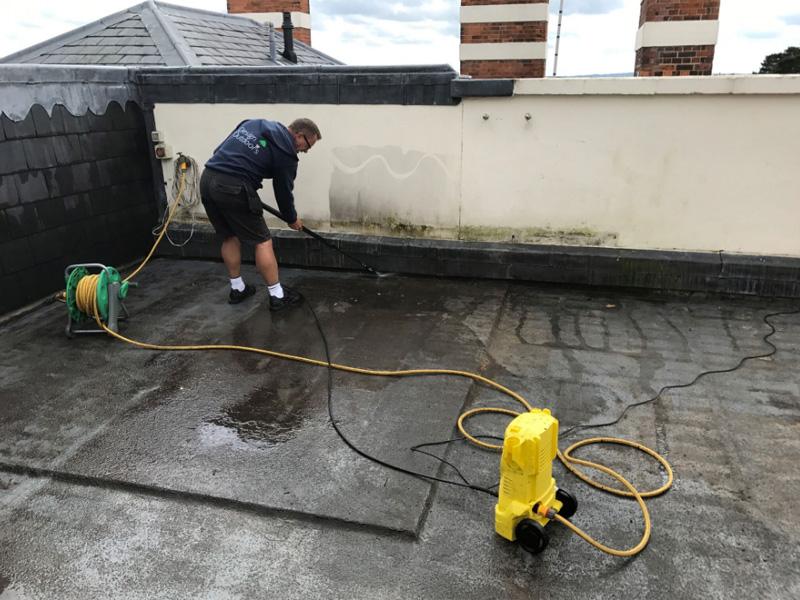 An image of an IPE decking tile installation at Tunbridge Wells, Kent (New)