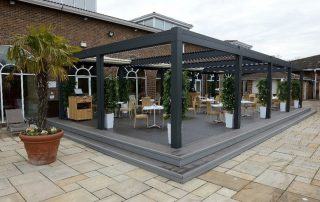 An image of iDecking installation at the Nirvana Spa in Berkshire
