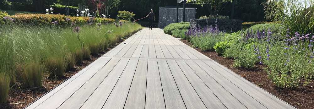 An image of a garden and decking