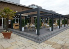 An image of a completed decking project at the Nirvana Spa