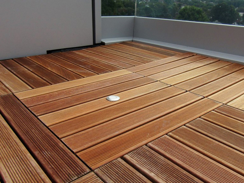 An image of a completed decking installation in Brighton