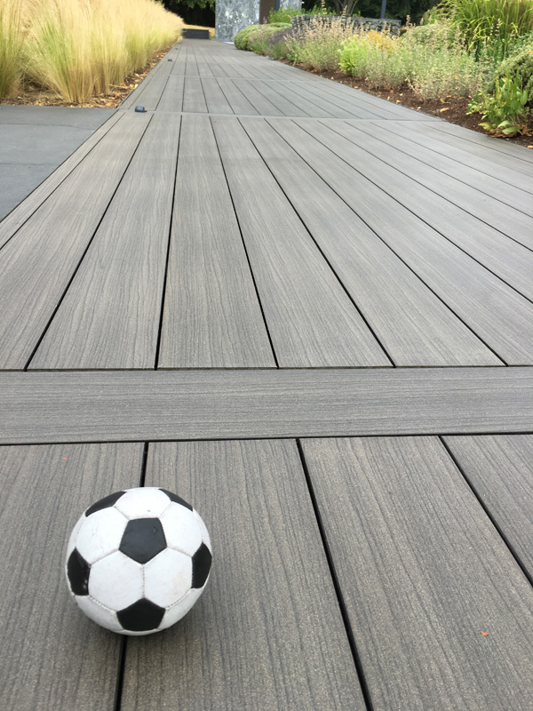 An image of a completed decking installation on a finished walkway