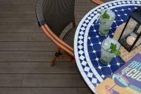 An image of a completed deck installation using terra decking tiles